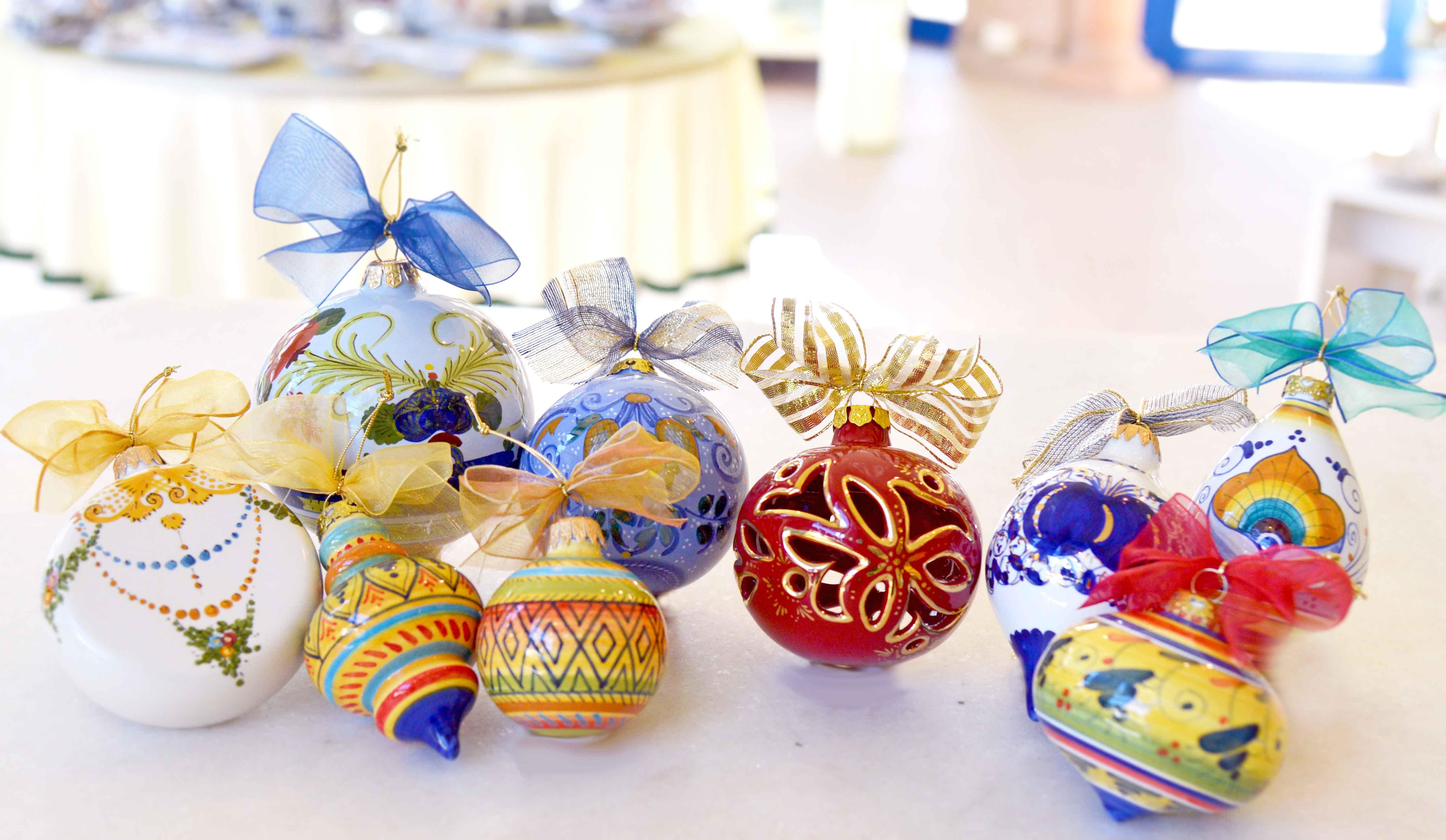 Palline-natale-ceramica-Faenza-ceramiche-natalizie