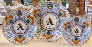 3. Piatti ceramica premiazione sportiva dipinti