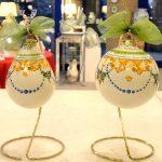 Palline di Natale in ceramica decoro Festone